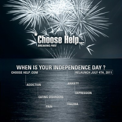 Relaunch Poster, Independence Day 2011 - ChooseHelp.com